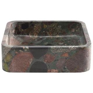 Roni Multi Color Square Stone Sink