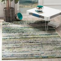 Safavieh Porcello Modern Cream/ Green Rug - 4' x 6'