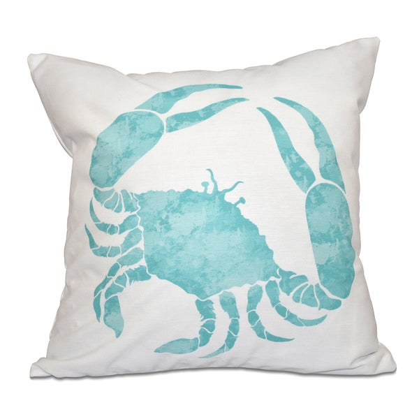 Crab Animal Print 18 x 18-inch Outdoor Pillow