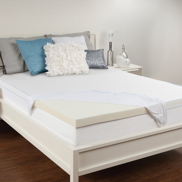 Shop Sealy 3 Inch Memory Foam Mattress Topper Free Shipping Today