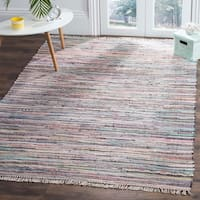 Safavieh Hand-Woven Rag Rug Grey/ Multi Cotton Rug - 4' x 6'