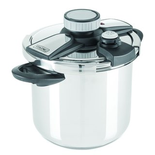 Viking 4050-28QBLK Pressure Cooker with Easy Lock Lid 8 quart Silver