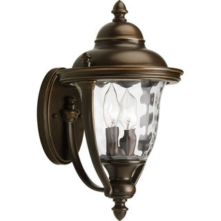 Two Light Outdoor Wall Lantern with Bronze Finish