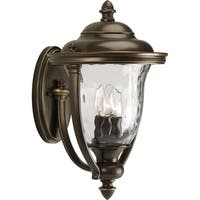 Three Light Outdoor Wall Lantern with Bronze Finish