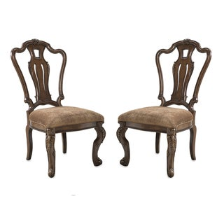 Side Chair in Dark Brown Finish (Set of Two)