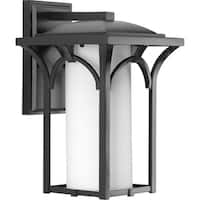 One Light Outdoor Wall Lantern with Black Finish and Bulb