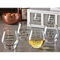 TAG Sentiment Stemless Wine Glass (Set of 4)