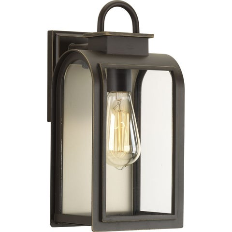 One Light Outdoor Wall Lantern with Bronze Finish