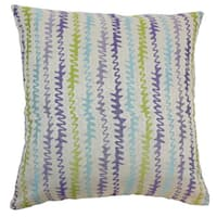 Malu Zigzag Down and Feather Filled Throw Pillow with Hidden Zipper Closure 18-inch Kismet