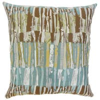 Bevin Graphic Down and Feather Filled Throw Pillow with Hidden Zipper Closure 18-inch Golden Rod
