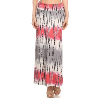 MOA Collection Women's Tie Dye Maxi Skirt