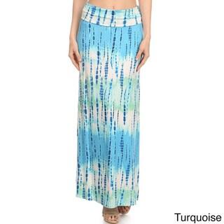MOA Collection Women's Tie Dye Maxi Skirt