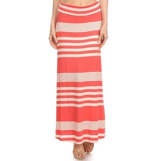 MOA Collection Women's Striped Maxi Skirt