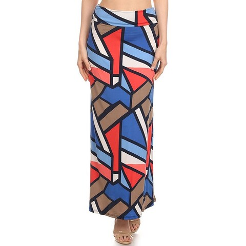 MOA Collection Multicolor Geometric Maxi Skirt