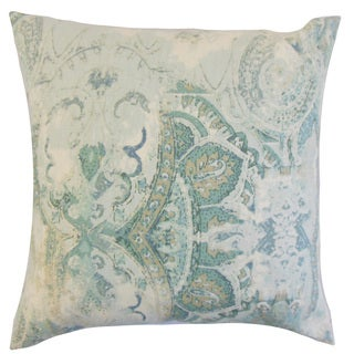 Havilah Floral Down and Feather Filled Throw Pillow with Hidden Zipper Closure 18-inch Dreamie