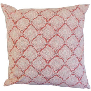 Padma Geometric Down and Feather Filled Throw Pillow with Hidden Zipper Closure 18-inch Blush