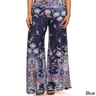MOA Collection Women's Plus Size Paisley Pants
