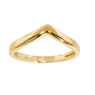 Eternally Haute Solid Sterling Silver Chevron Ring (Option: Yellow - 6)