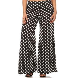 MOA Collection Plus Size Women's Polka-Dot Pants