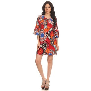 MOA Collection Women's Floral Medallion Short Dress