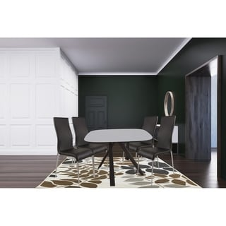 Grey and Black 5 Piece Oval Dining Set