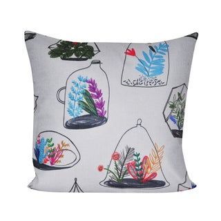 Loom and Mill 21 x 21-inch Terrarium Decorative Pillow