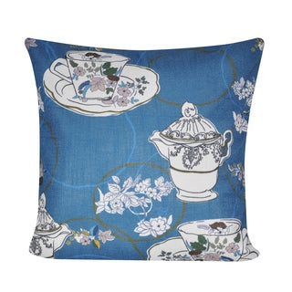 Loom and Mill 21 x 21-inch Tea Time Decorative Pillow