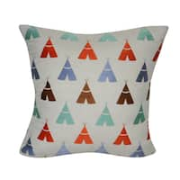 Loom and Mill 22 x 22-inch Teepee Decorative Pillow