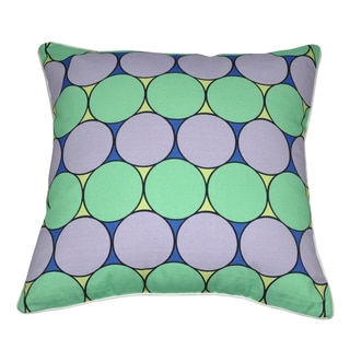 Loom and Mill 18 x 18-inch Circles Decorative Pillow