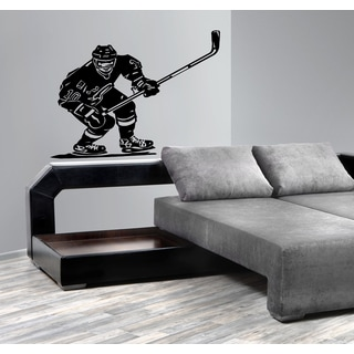 Ice hockey player with a stick Wall Art Sticker Decal