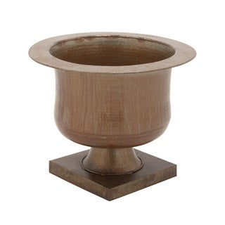 Metal Pedestal Planter 25-inch, 20-inch