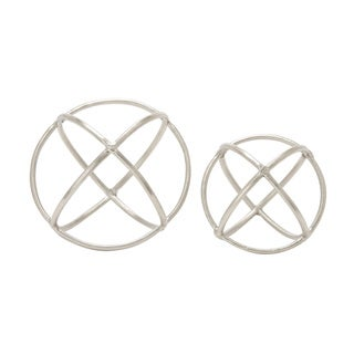 Carson Carrington Alavus Aluminum Orb Set of 2 10-inch, 8-inch