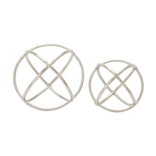 Aluminum Orb Set of 2 10-inch, 8-inch