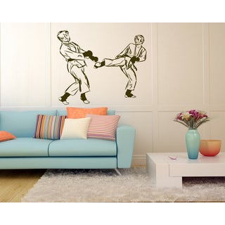 Sports martial arts karate boxing Wall Art Sticker Decal Brown