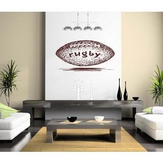 Rugby ball Wall Art Sticker Decal Brown