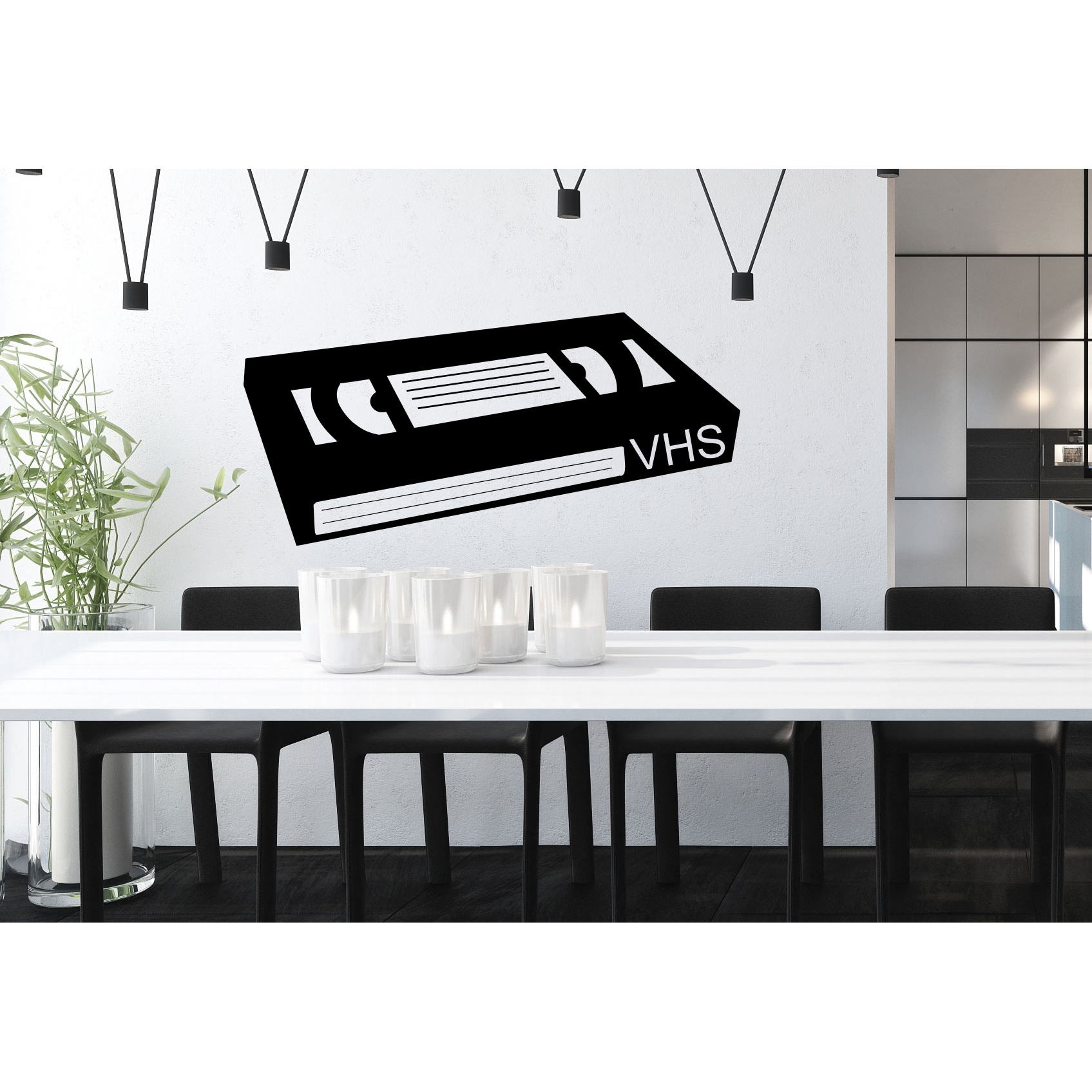 VCR tape Wall Art Sticker Decal (22 inches x 28 inches), ...