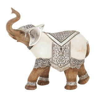 The Curated Nomad Merced Polystyrene White Elephant Statue