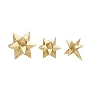 Gold Star Figurine (Set Of 3)