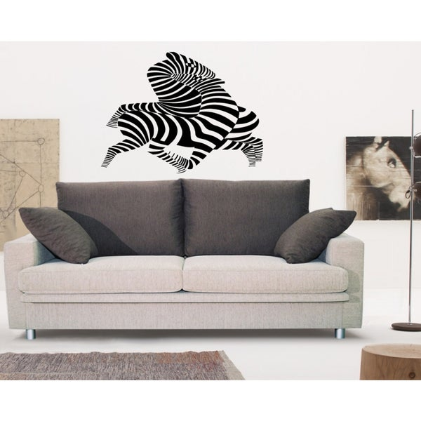 Silhouette Zebra Wall Art Sticker Decal