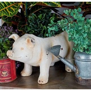 MGO Pig Flower Pot, Cream