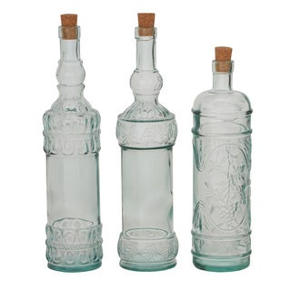 Set of 3 Glass Stopper Bottle 3-inch, 14-inch