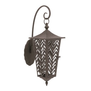 Metal Candle Wall Lantern 14-inch, 28-inch