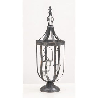 Metal Glass Candle Lantern 9-inch, 25-inch