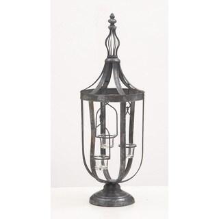 Maison Rouge Lamartine Metal Glass Candle Lantern 9-inch, 25-inch