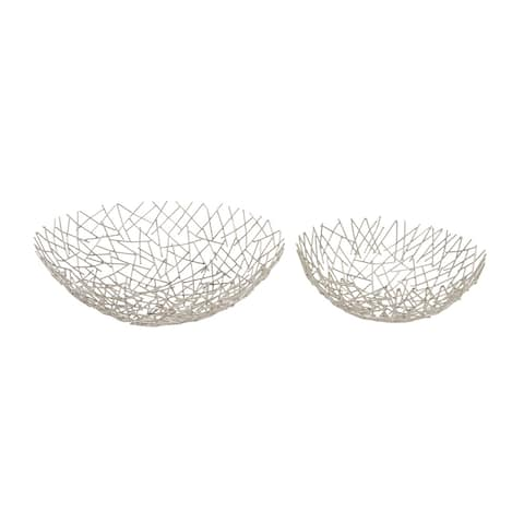 Silver Orchid Olivia Metal Bowl 13-inch, 16-inch (Set of 2)