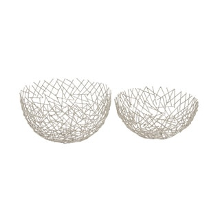 Metal Bowl Set Of 2 13-inch, 12-inch