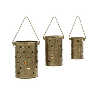 Studio 350 Metal Lantern Set of 3, 14 inches, 16 inches, 20 inches H