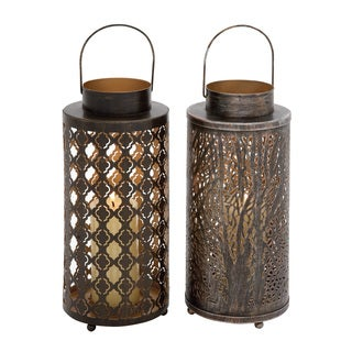 Styled Metal Candle Lantern 2 Assorted
