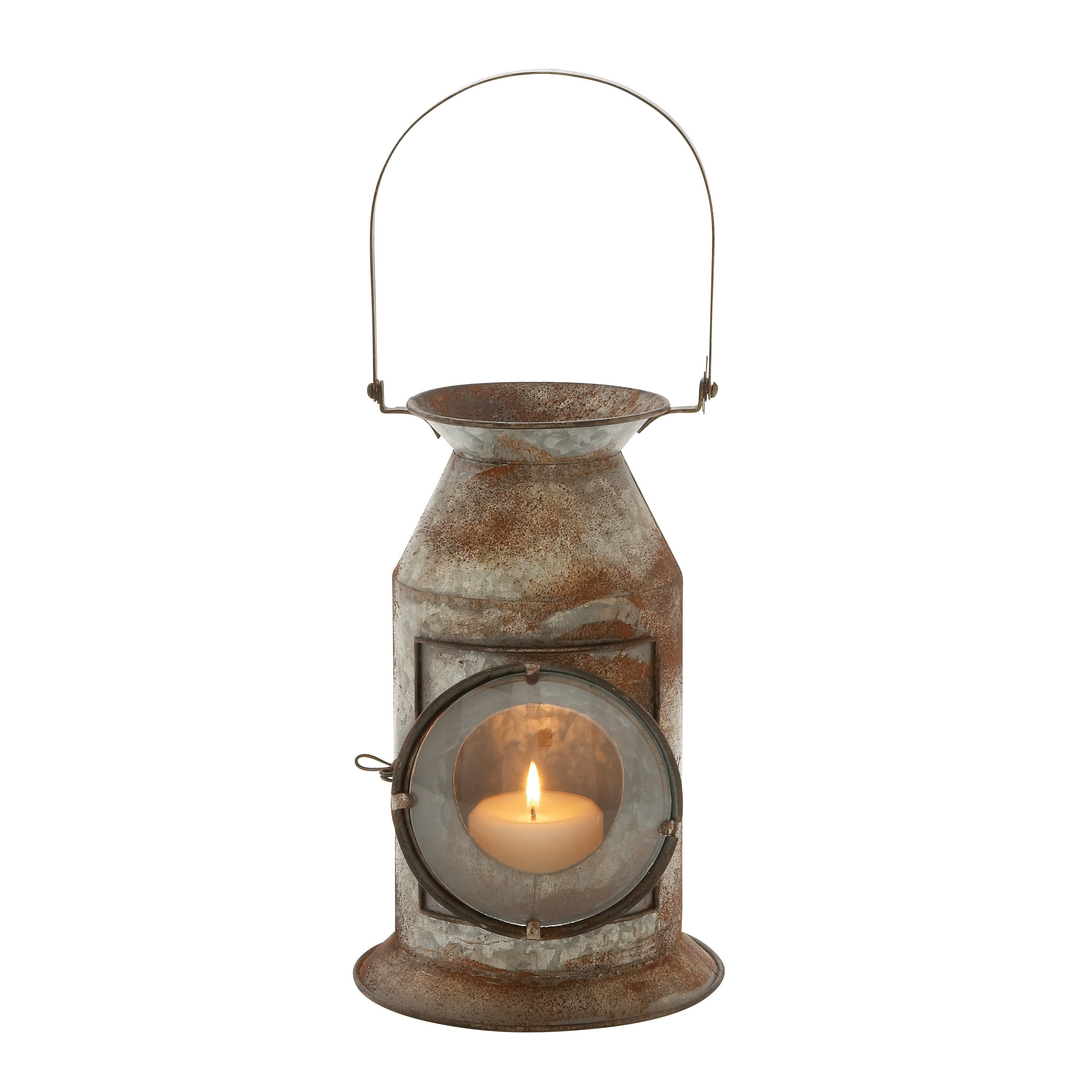 Studio 350 Metal Glass Candle Lantern (Gorgeous Metal Gla...