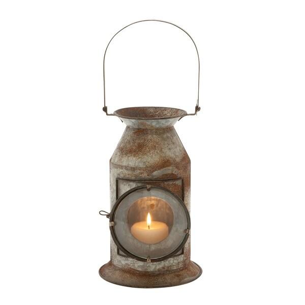 Metal Glass Candle Lantern